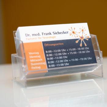 Dr Siebecker - NeuDr. Siebecker - Neurologische Praxis - Visitenkarterologische Praxis - Visitenkarte