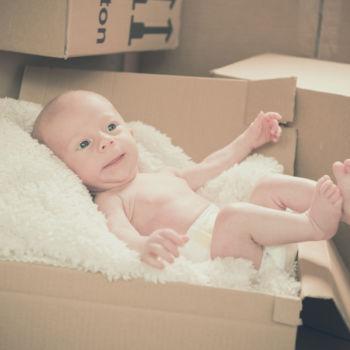 Homeshooting - Das Baby im Karton