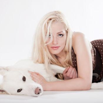 Fashionfoto mit Hund