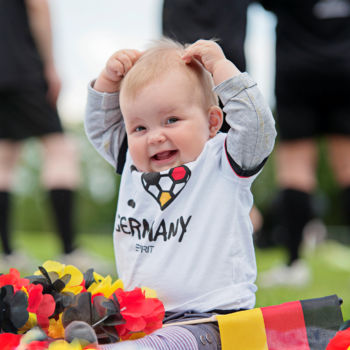 Ein kleiner Fußballfan